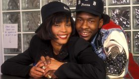 Whitney Houston and Bobby Brown Engagement File Photo