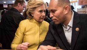 Hillary Clinton Visits Brooklyn Restaurant