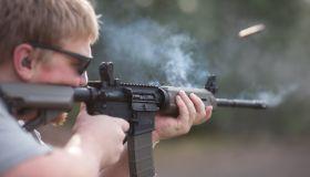 AR-15 Assault Rifle Smoking