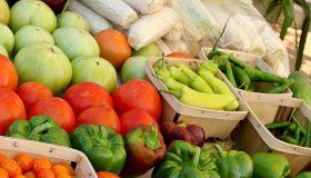 Vegetables in farmers market