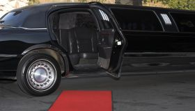 Red Carpet Limousine Waiting Style Glamor Rich Event Prom