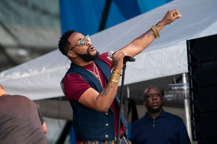 Raheem Devaughn at the 2019 Cincinnati Music Festival
