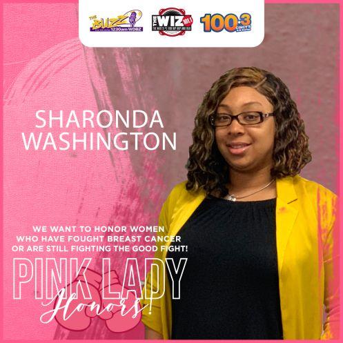 Pink Lady Honoree Sharonda Washington