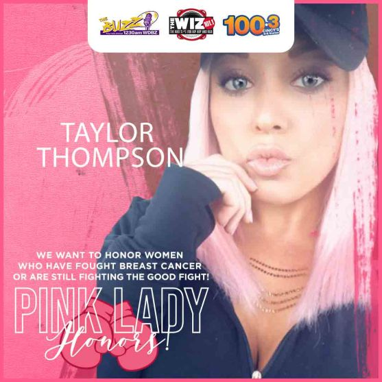 Pink Lady Honoree Taylor Thompson