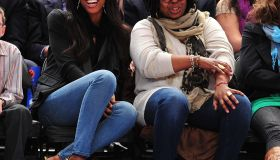 Celebrities Attend The Chicago Bulls Vs New York Knicks Game - April 12, 2011