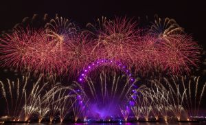 London's New Year's Eve fireworks display