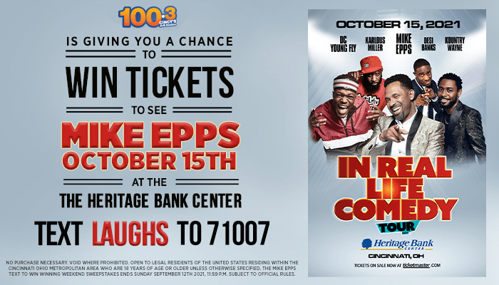 Mike Epps Text to Win Contest Graphic WOSL